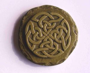 Celtic knotwork fridge magnet brass finish